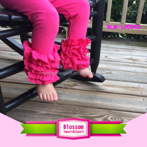 Boutique baby ruffle shorts solid hot pink softtextile baby icing ruffle pants wholesale icing leggings