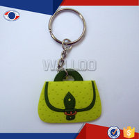 PVC keyring with bag design