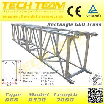 Rectangle Aluminum Roof Tower System Truss