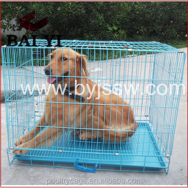 "24"" 30"" 36"" 42"" 48"" Large Outdoor Metal Stainless Steel Dog Cages With Plastic Pallet"
