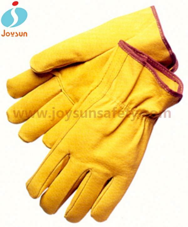 Safety equipment working leather gloves cow grain leather driver glove