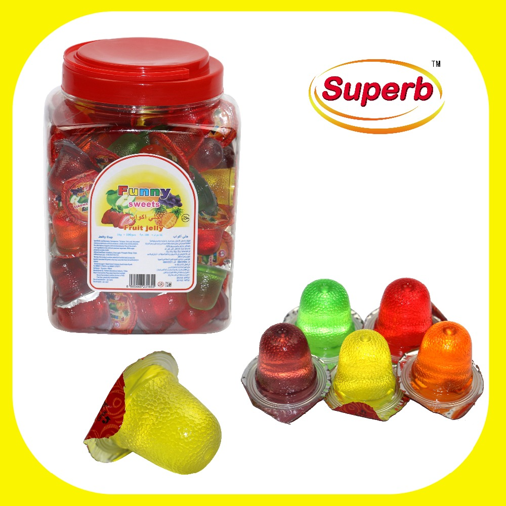 Snack food mini lychee jelly cups / Fruit jelly cup