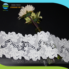 Wholesale Factory Price hollow lace trim White Thin Lace Fabric Ribbon Trim