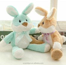 Wholesale high quality cute soft custom design small mini stuffed plush pastel easter bunny