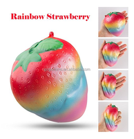 2018 popular Rainbow strawberry squishy factory slow rising squishy scented wholesale squishy for anti stress