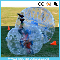 0.7mm 1.0mm 100% TPU material bubble football thunder ball body zorb ball for sale