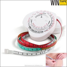 Promotion Gifts Mini Body Fat Bmi Calculator Retractable Plastic Tape <strong>Measure</strong>