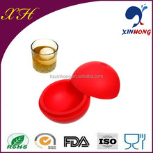 2014 New custom football silicone ice ball maker for whisky