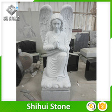 Own Design Hand Craved Natural Granite Angel Monuments