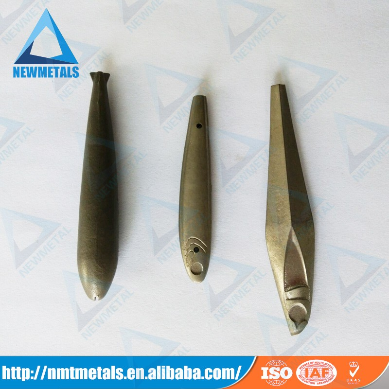 China manufactured competitive pirce tungsten bullet type fishing sinker, fishing weights