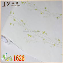 Simple pvc bedroom decor wallpaper beautiful flowers wall paper