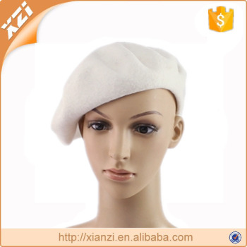 White beret hats exquisite civilian beret oem customized wool hats