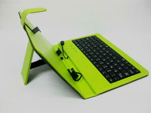 7 Inch Tablet PC Keyboard Leather Case/ Cover,Mini/Micro USB Connector