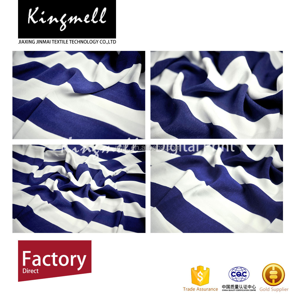 Customizable digital print stripe cotton/ satin polyester fabric