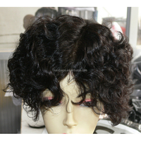 High Quality Natural Indian Human Hair Wigs For Black Men