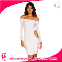 off shoulder white fashion sexy bandage dress 2013