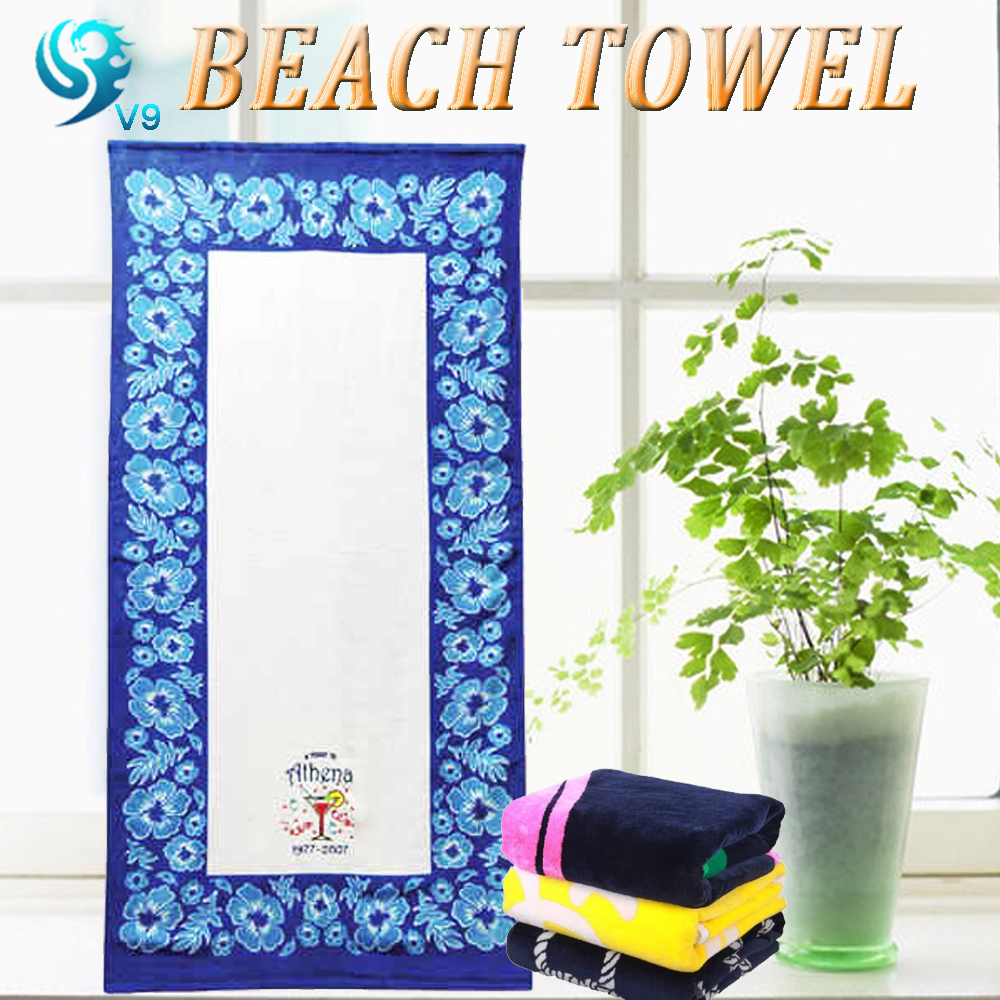 2016 china supplier wholesale velour custom printed bath towel <strong>cotton</strong>