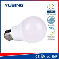 9W A60 Dimmable Color Temperature Adjustable LED Bulb Light