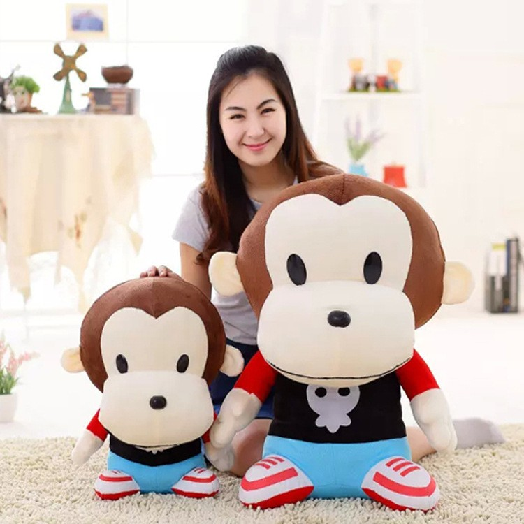 extra large cuddly toys lovely couple monkey flat stuffed animals for babies