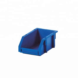 Warehouse spare parts storage plastic stackable bins and boxs