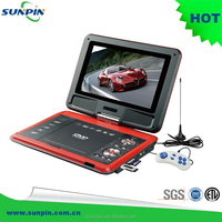 9 inch lcd portable dvd player with digital tv tuner