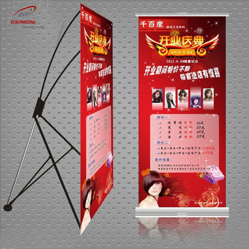 High Quality Trade Show X-Banner Fabric Advertising Display Stand