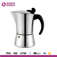 Hot selling CE certified moka espresso coffee maker espresso Italian moka coffee maker 2cups 4cups 6cups 9cups