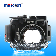 Aluminium case For Canon G15 Meikon 325ft/100M Underwater Camera Diving waterproof Aluminium housing case