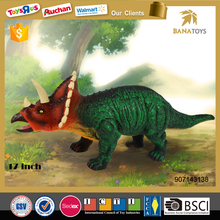 Newest dinosaur for kids 17 inches triceratops dinosaur toys set