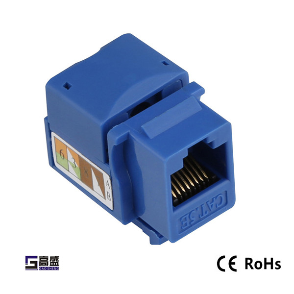 Manufacture high quality rj45 utp cat6 keystone jack Cat5e Keystone Jack Fit To 86 Standard Face Plate Low Price