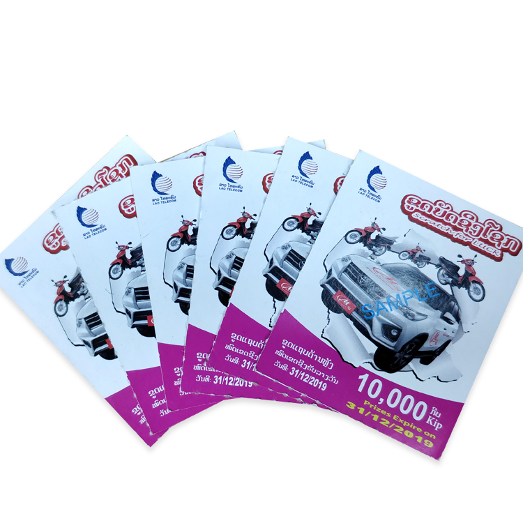 Custom Variable Data Printing Lottery Trading Game Scratch Card For Promotion