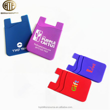 Promotion gifts adhesive funky business silicone card holder for phone back