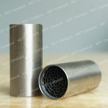 KET Pt/Pd/Rh catalyst metal core catalytic converters for motorcycle