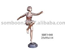 Aerobic Girl (Bronze Sculpture & Bronze Statue)