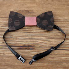 Popular Wooden Handmade Bowties Led Bowtie Kids Bow Ties
