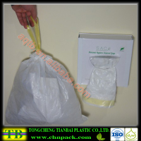 Drawtape personal hygienic plastic disposal bag