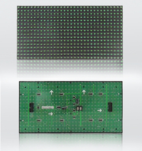 P10 DIP Single Green semi-outdoor led display screen Outdoor P10 LED Module 32*16 pixel 10mm