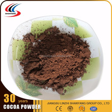 Fat natural oatmeal and alkalized cocoa powder for hot drinking