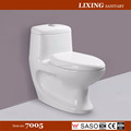 Floor mounted dual flush washdown one piece toilet