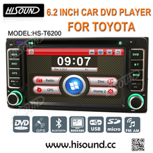 Top quality with gps/bluetooth 6.2'' touch screen 2 din gps for toyota