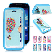 Faction Printing TPU Case Leather Back Stand Cover For Samsung S4 Mini