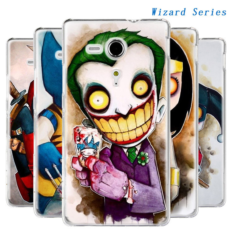 Cool style joker smile cover for sony xperia sp M35h case z1 z2 z3 compact all available