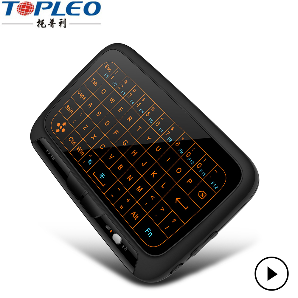 Fashion streamline design H18 backlit wireless gaming keyboard and mouse for smart tv,tv box,pad,laptop,computer etc