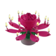 Wholesales Rotating Lotus Flower Birthday Musical Magic Candle