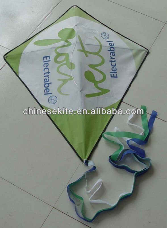 simple easy fly promotional diamond kite