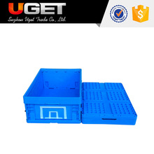 Have tag holder space saving logistic plastic crate with lid