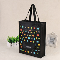 Full logo Printing recyclable lamination shopping non-woven fabric gift bag supplier