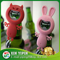 custom shape pvc bottle opener rabbit beer bottle opener