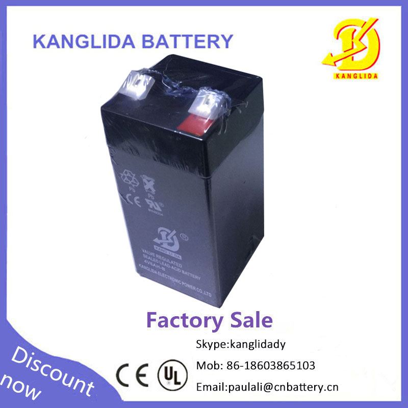 4v 6ah rechargeable lead acid battery
