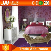 Beautiful Flower Soundproof Wallpaper For Hotels